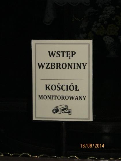 Sanktuarium w Hrubieszowie - tabliczka